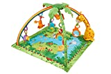 Fisher-Price K4562 - Rainforest Erlebnisdecke, Baby Krabbeldecke mit Spielzeug, Musik, Lichtern und weichem Spielbogen, ab Geburt