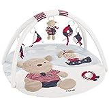 Fehn 078220 3-D-Activity-Decke Teddy / Spielbogen mit 5 abnehmbaren Spielzeugen für Babys Spiel & Spaß von Geburt an / Maße: Ø85cm