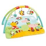 Fehn 074277 3-D-Activity-Decke Safari - Spielbogen mit 5 abnehmbaren Spielzeugen für Babys Spiel & Spaß von Geburt an - Maße: 80x85cm