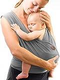 Babytragetuch - bei 60 Grad waschbar - für Neugeborene und Babys bis 15kg - inkl. Trageanleitung und Aufbewahrungsbeutel - liebevolles Design von Kreuzer