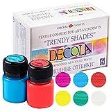 Nevskaya Palitra Textilfarbe Trendtöne Set | 6 x 20 ml | Stoffmalfarben waschfest | Qualität von Decola