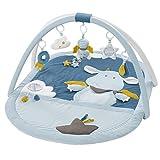 Fehn 065091 3-D-Activity-Decke Little Castle / Spielbogen mit 5 abnehmbaren Spielzeugen für Babys Spiel & Spaß von Geburt an / Maße: 85x110 cm