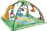 Fisher-Price K4562 Rainforest Erlebnisdecke Krabbeldecke mit Musik und Lichtern weichem Spielbogen Babyerstausstattung, ab 0 Monaten