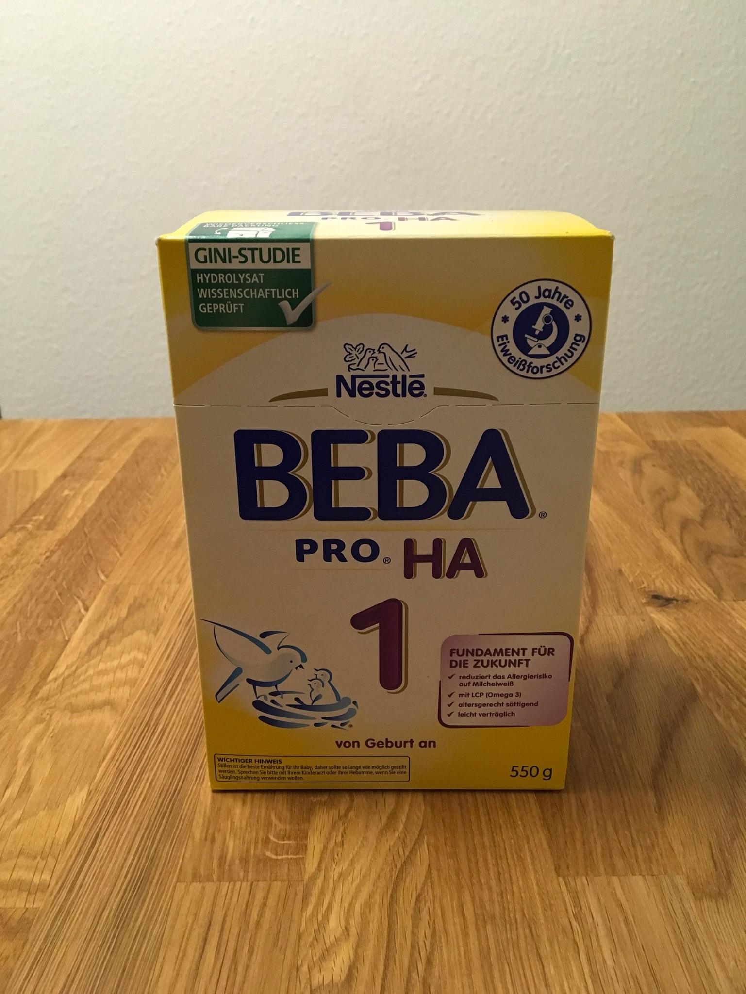 Zum Start: Beba HA Pre 1